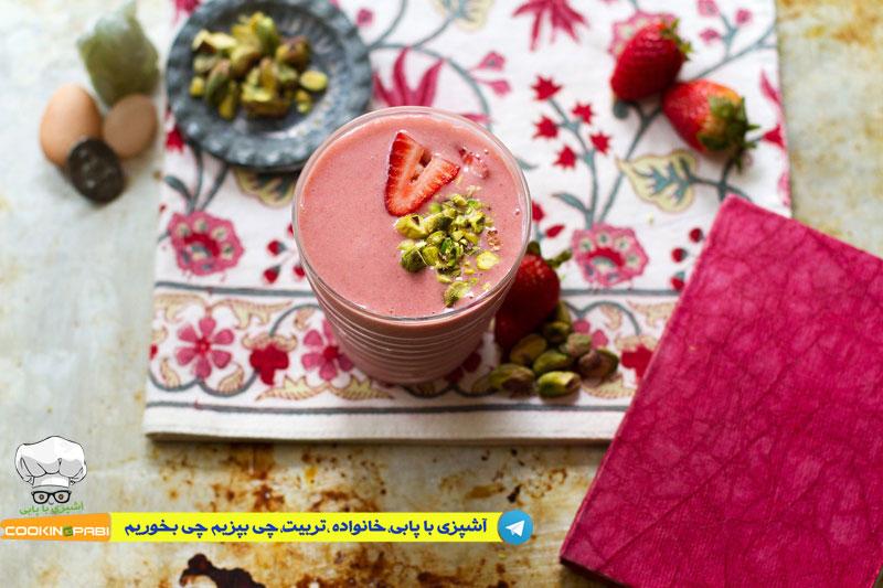 37--cookingpabi--آشپزی-با-پابی--Strawberry-dessert-دسرتوت-فرنگی