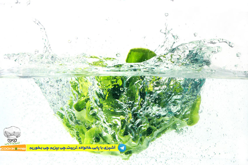 46--cookingpabi--آشپزی-با-پابی---Wash-lettuce--شستشوی-کاهو