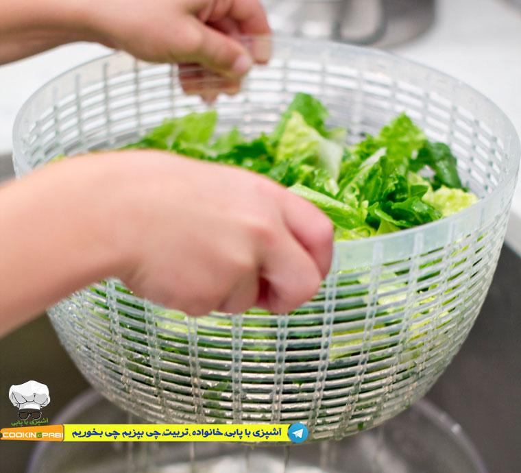 46--cookingpabi--آشپزی-با-پابی---Wash-lettuce-3--شستشوی-کاهو