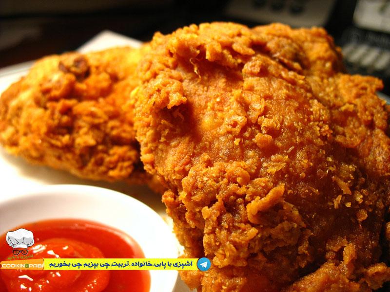 50--cookingpabi--آشپزی-با-پابی---Spicy-Fried-Chicken-مرغ-سوخاری-اسپایسی