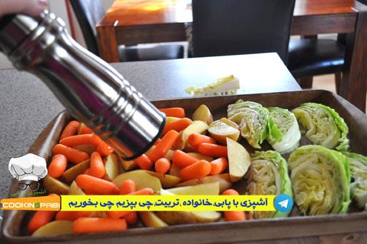 62--cookingpabi--آشپزی-با-پابی--salad-Cabbage,-carrots,-potatoes--سالادترش-وشیرین-کلم-هویج-وسیب-زمینی