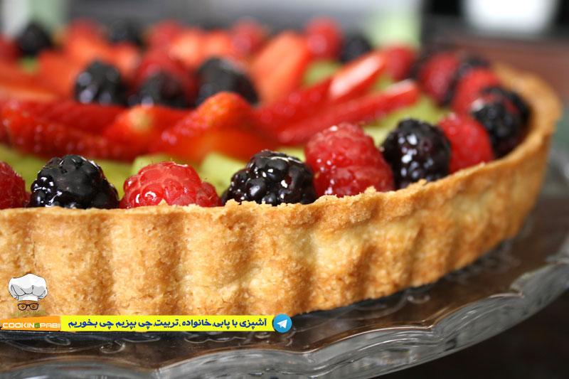 64--cookingpabi--آشپزی-با-پابی--Cookies-and-cream-tart-fruit-4---تارت-بیسکویت-وخامه