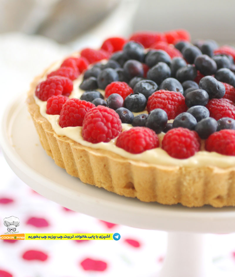 64--cookingpabi--آشپزی-با-پابی--Cookies-and-cream-tart-fruit-6---تارت-بیسکویت-وخامه