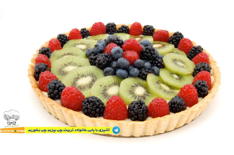 64--cookingpabi--آشپزی-با-پابی--Cookies-and-cream-tart-fruit2--تارت-بیسکویت-وخامه