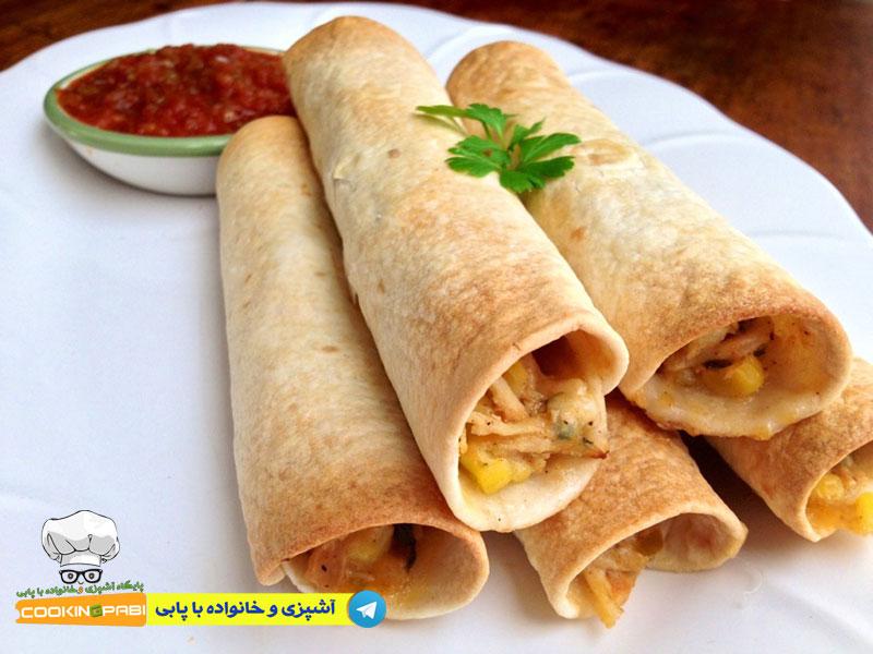 100-cookingpabi-آشپزی-و-خانواده-پابی---Chicken-kebab-with-pita-bread-1---مرغ-کباب-شده-با-نان-پیتا