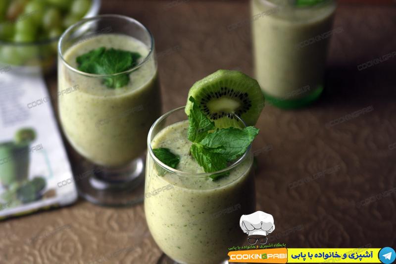 102-cookingpabi-آشپزی-و-خانواده-پابی---Kiwi-smoothie-with-mint-1-اسموتی-کیوی-با-نعناع